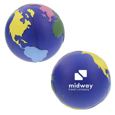 Foam multi-color earth stress ball with promotional.