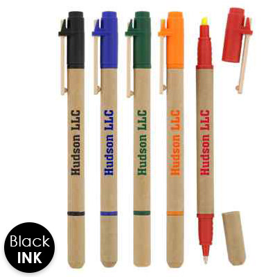 Plastic 5 piece gel wax highlighters with printed logo.