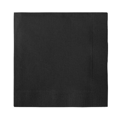3Ply tissue black blank cocktail napkin.