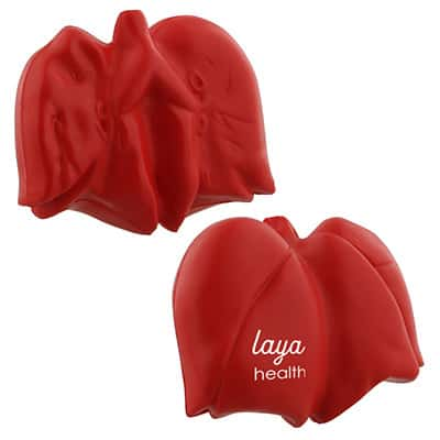 Foam lung stress reliever personalized with logo.